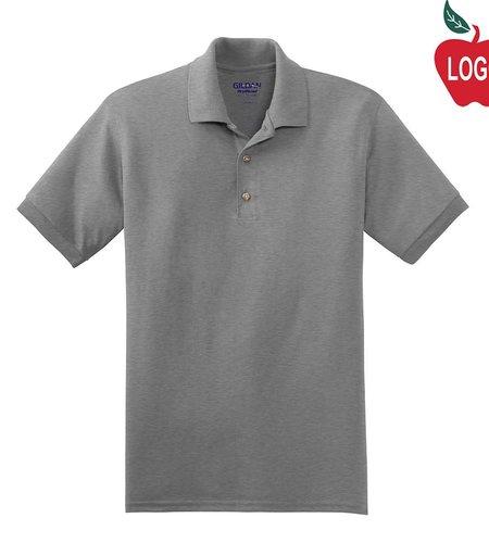 School Apparel A+ Sport Grey Short Sleeve Polo #9761