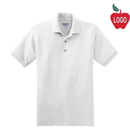 Gildan White Short Sleeve Polo #8800