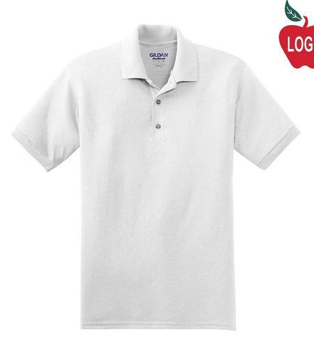 Gildan White Short Sleeve Polo #8800