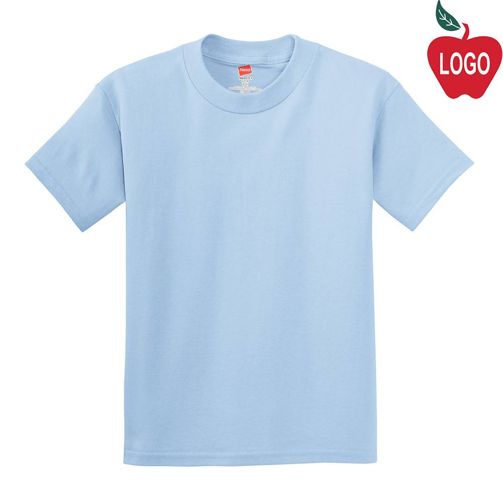 aa4f164aafeb Light Blue Short Sleeve Tee #5450 - Merry Mart Uniforms