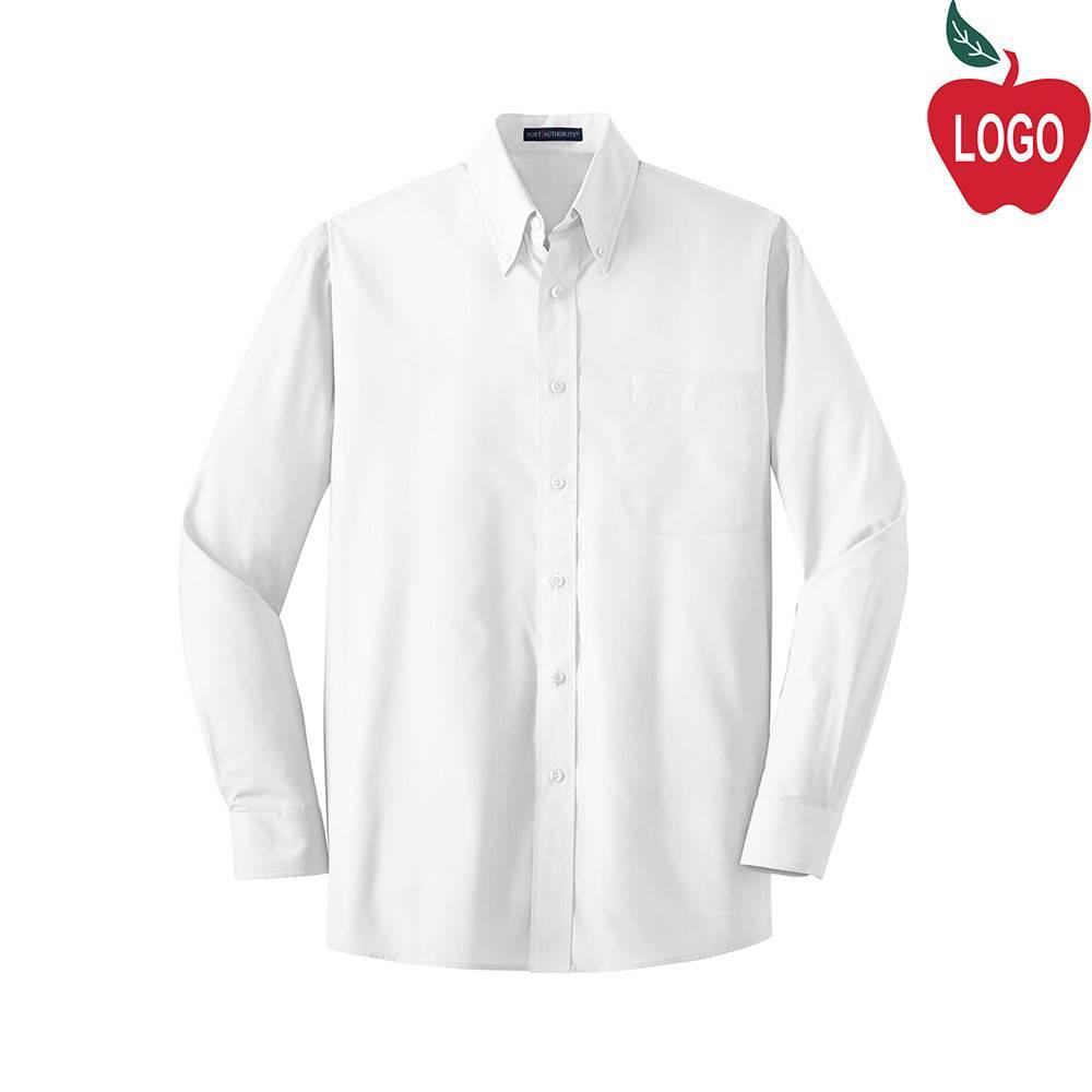 Mens White Long Sleeve Dress Shirt #W100