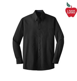 Port Authority Mens Black Long Sleeve Dress Shirt #W100