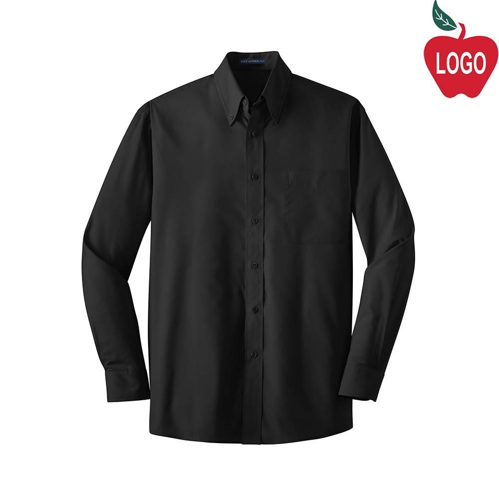 Mens Black Long Sleeve Dress Shirt #W100