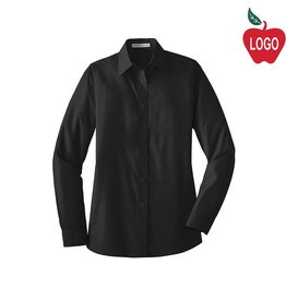 Port Authority Ladies Black Long Sleeve Dress Shirt #LW100