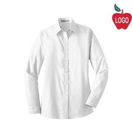 Port Authority Ladies White Long Sleeve Dress Shirt #LW100