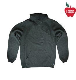 Russell Black Heather Hooded Pullover Sweatshirt #995