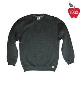 Russell Black Heather Crew-neck Sweatshirt #998
