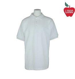 School Apparel A+ White Short Sleeve Pique Polo #8761