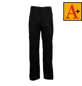 School Apparel A+ Black Pleated Pants #7022