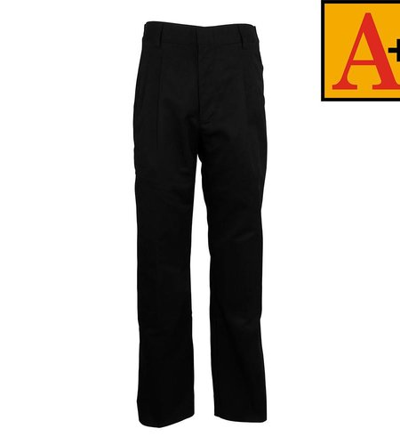 School Apparel A+ Black Pleated Pants #7022