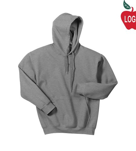 Gildan Sport Grey Hooded Pullover Sweatshirt #18500