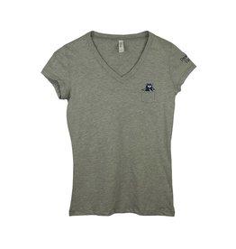 Bella B18 Grey Short Sleeve V-Neck Tee