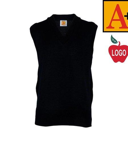 School Apparel A+ Navy Blue Sleeveless Sweater Vest #6600