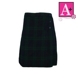School Apparel A+ Blackwatch Plaid Skort #1149