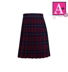 School Apparel A+ Hamilton Plaid Knife Pleat Skirt #1032PP