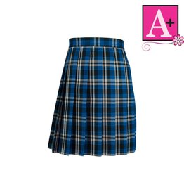 School Apparel A+ Rampart Plaid Knife Pleat Skirt #1032PP