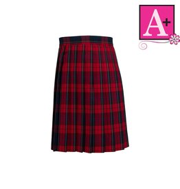 School Apparel A+ Woodland Plaid Knife Pleat Skirt #1032PP