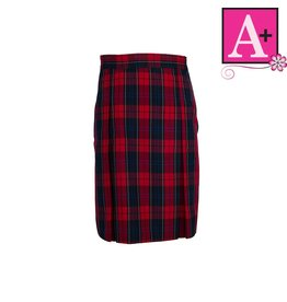 School Apparel A+ Woodland Plaid 4-pleat Skirt #1034BP
