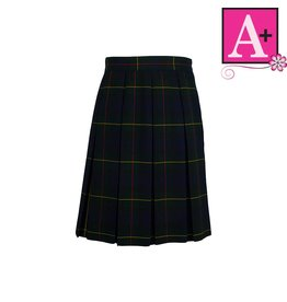 School Apparel A+ Belair Plaid Box Pleat Skirt #1945PP