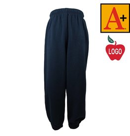 School Apparel A+ Youth Small Navy Blue Sweatpants #6252