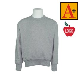 School Apparel A+ Oxford Grey Crew-neck Sweatshirt #6254