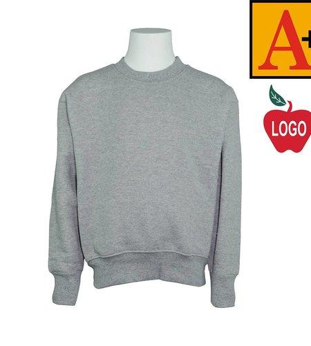 School Apparel A+ Oxford Grey Crew-neck Sweatshirt #6254