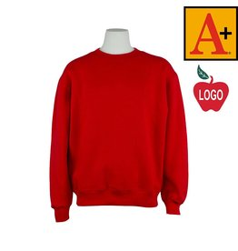 School Apparel A+ Red Crew-neck Sweatshirt #6254