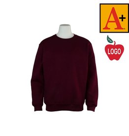 School Apparel A+ Wine Crew-neck Sweatshirt #6254