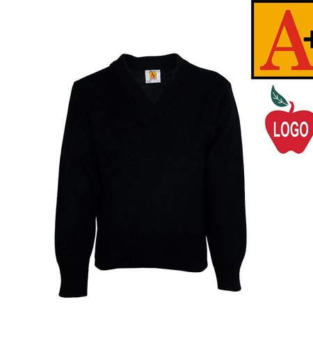 School Apparel A+ Navy Blue Pullover Sweater #6500