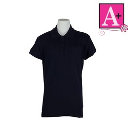 School Apparel A+ Dark Navy Blue Short Sleeve Pique Polo #9715