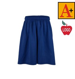 School Apparel A+ Royal Blue Mesh Athletic Shorts #6212