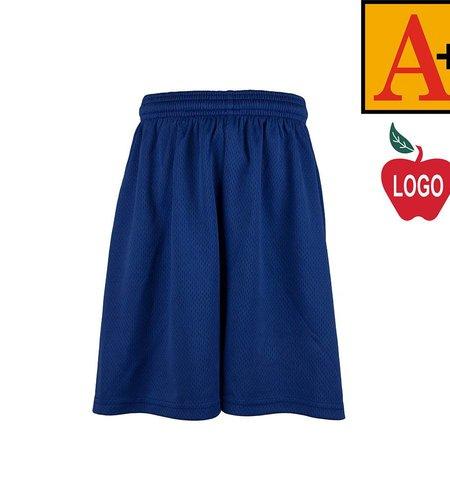 School Apparel A+ Royal Blue Mesh Athletic Shorts #6212