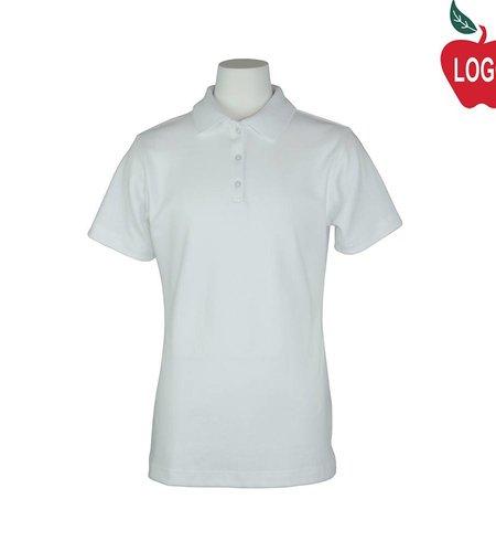 Elder White Short Sleeve Interlock Polo #7771