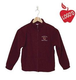 Elder Wine Full Zip Microfleece Jacket #1001