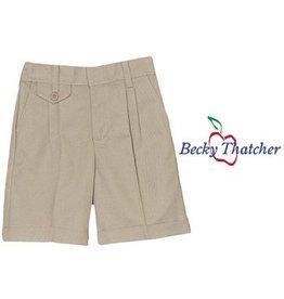 Elder Khaki Pleated Walk Shorts #4026