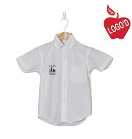 Elder White Short Sleeve Oxford Shirt #5115