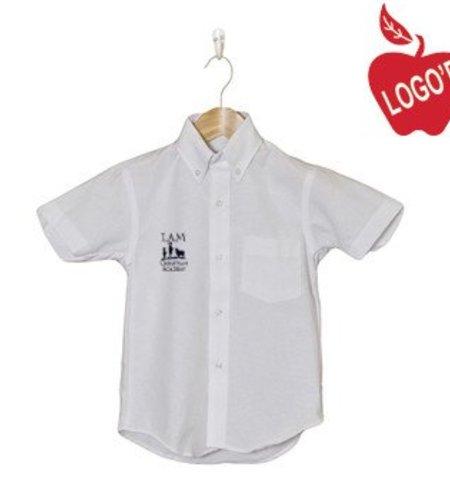 Elder White Short Sleeve Oxford Shirt #5115
