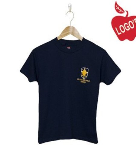 39806bb9750f Hanes Navy Blue Short Sleeve Tee #5450 - Merry Mart Uniforms