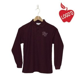 Elder Wine Long Sleeve Pique Polo #5639