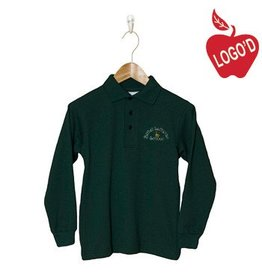 Elder Green Long Sleeve Interlock Polo #5671