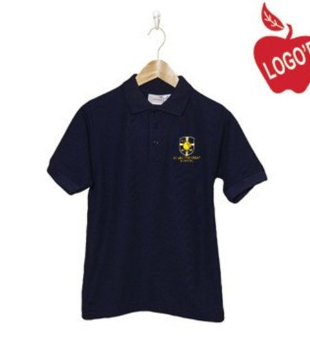 Elder Navy Blue Short Sleeve Pique Polo #5738