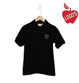 Elder Black Short Sleeve Pique Polo #5738