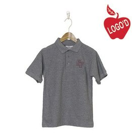Elder Grey Short Sleeve Pique Polo