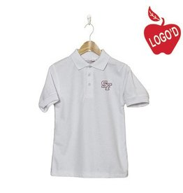 Elder White Short Sleeve Pique Polo #5738