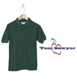 Elder Green Short Sleeve Interlock Polo #5771