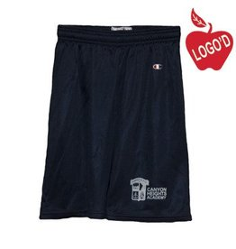 Champion Adult Large Navy Blue Mesh Athletic Shorts #8173