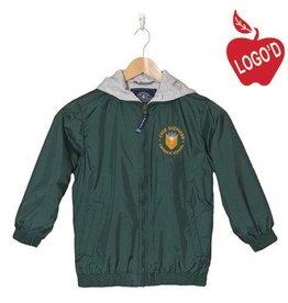 Charles River Green Hooded Nylon Jacket #8921