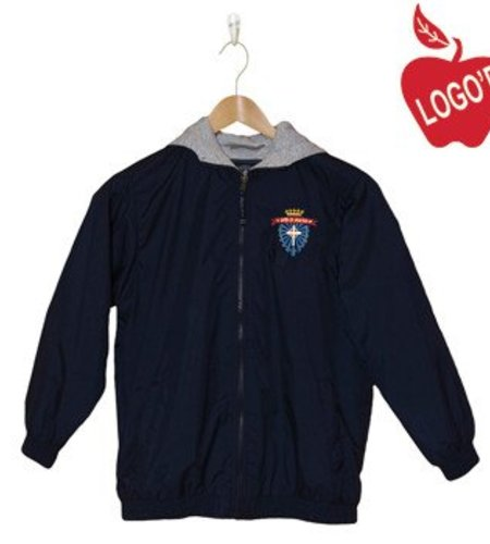 Charles River Adult Small Navy Blue Hooded Nylon Jacket #8921