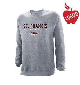 Russell Oxford Grey Crew-neck Sweatshirt with Old Logo