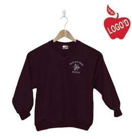 Russell Wine Crew-neck Sweatshirt with Arch Logo